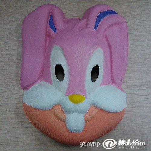 兔子面具简笔画