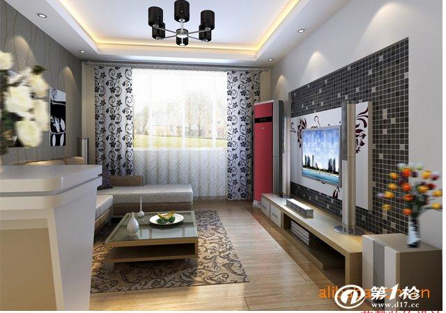 室内装修效效果图,日式混搭客厅,日式榻榻米书房
