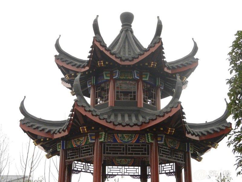 供应传统古典全木结构仿古凉亭