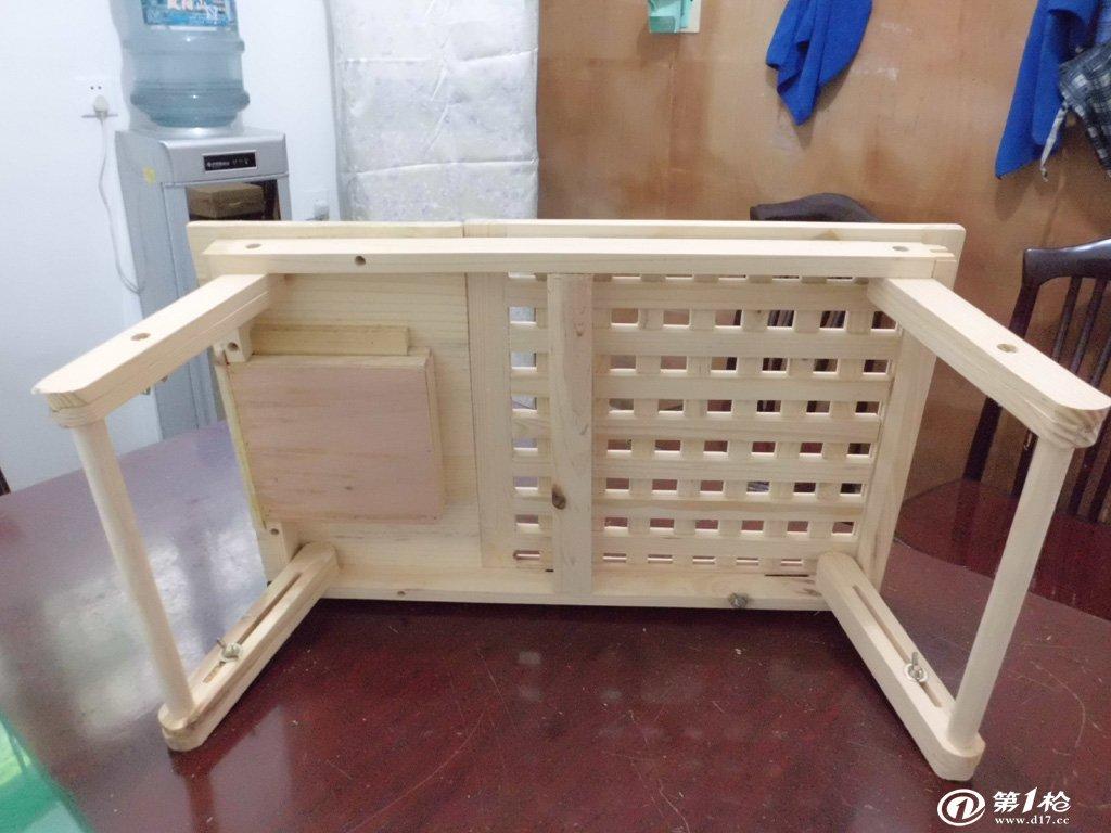 家易居床上用笔记本实木电脑桌折叠可升降桌子