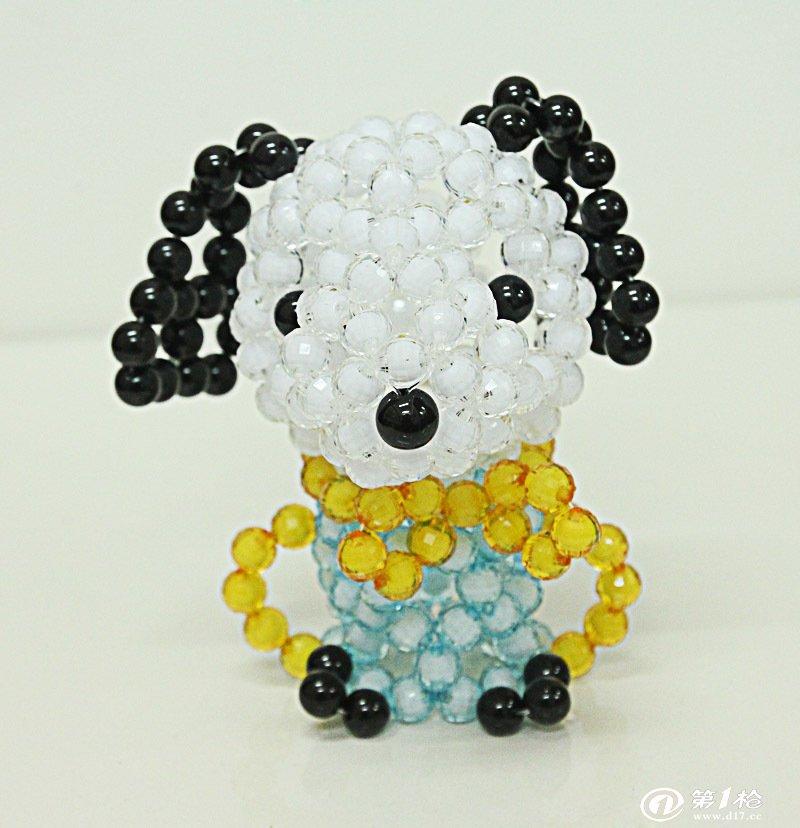 批发diy亚克力手工串珠工艺品创意 串珠饰品小猪