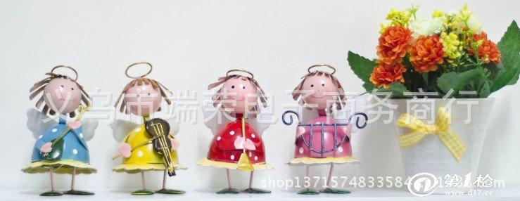 铁皮娃娃家居装饰品新房摆件时尚创意结婚礼品欧式品