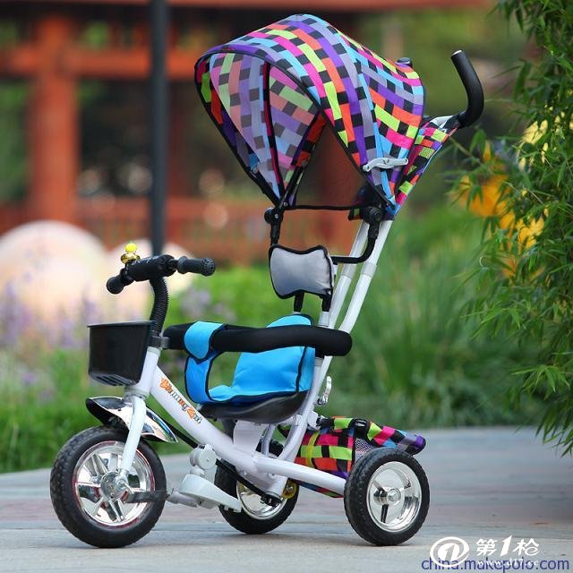 热销新款儿童三轮手推车 小孩自行车童车价格低