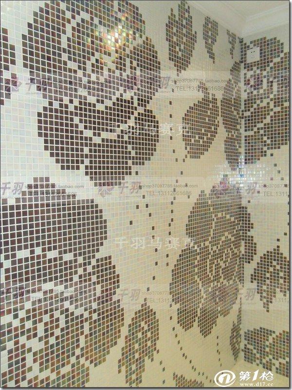 马赛克瓷砖玫瑰花拼图背景墙客厅电视餐厅沙发特价