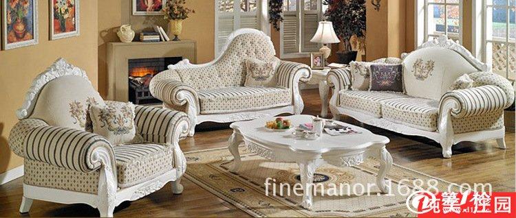 供应欧式沙发 布艺沙发 美式沙发 田园酒店商铺沙发 ktv家具 f288