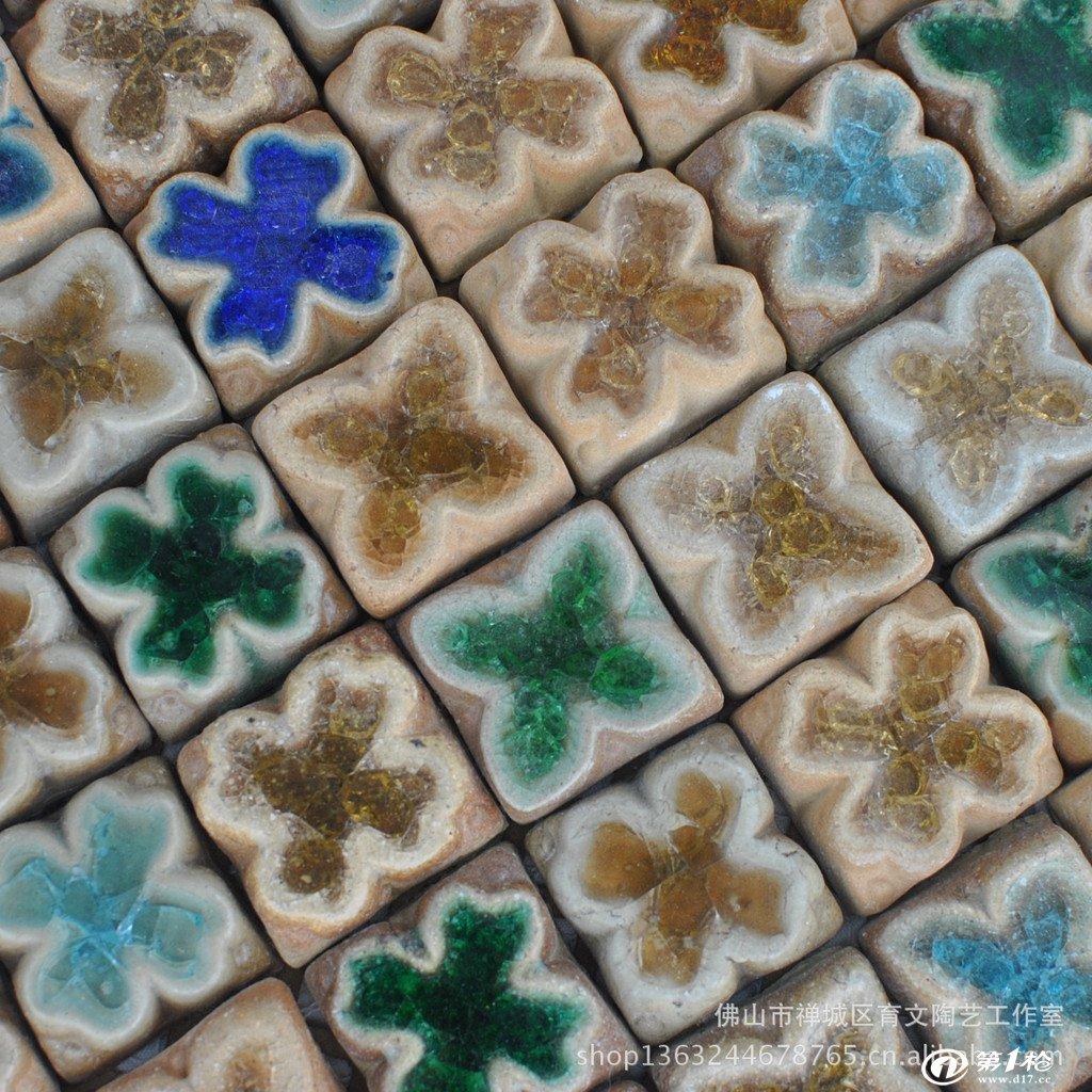 陶瓷瓷砖 微晶石/微晶玻璃陶瓷 【奥亚马赛克】佛山陶瓷手工小花图片