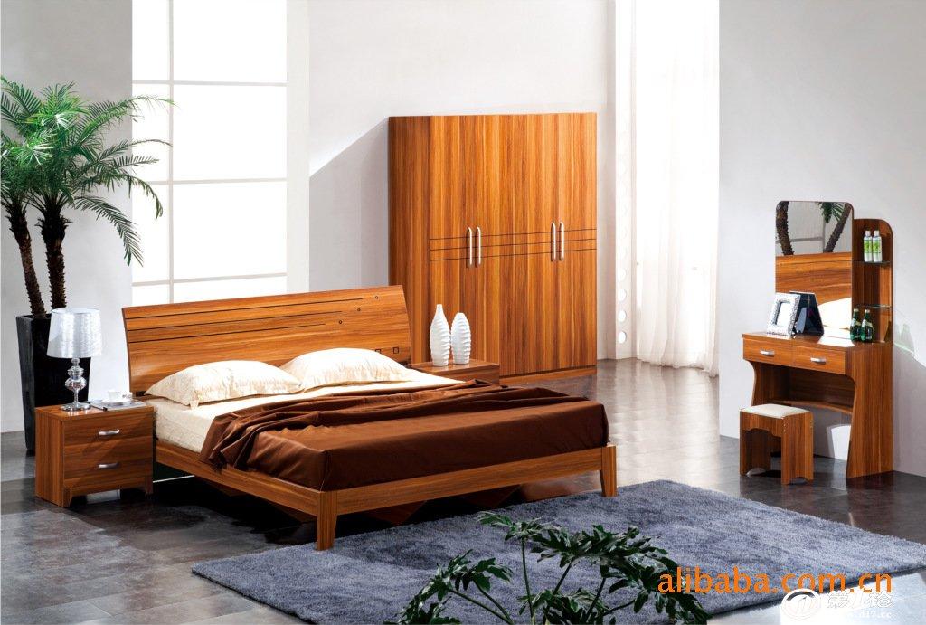 板式套房/现代套房/双人床 床头柜 梳妆台 四门衣柜