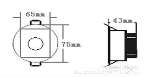 经营批发 各种 led 大功率筒灯系列 led 3w筒灯