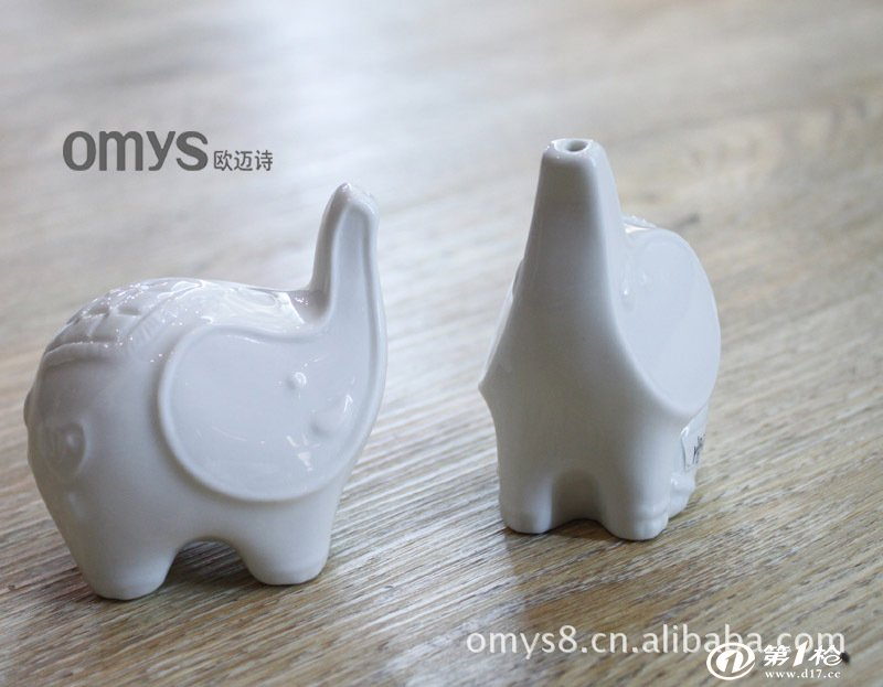 欧迈诗 小鸟猫头鹰小象形状陶瓷调味瓶 广告促销展销会礼品定制