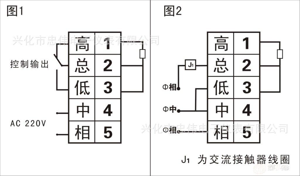 tda系列温度显示调节仪接线图