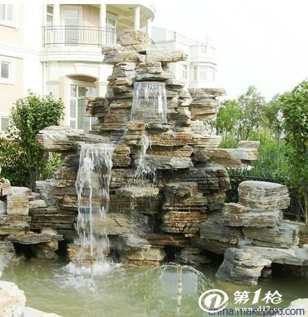 仿古建筑,喷泉,假山,仿木雕刻于一体的大型园林企业.
