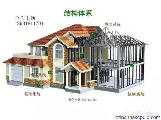 产品库 建材与装饰材料 预制建筑物 木别墅,轻钢别墅 南京轻钢结构