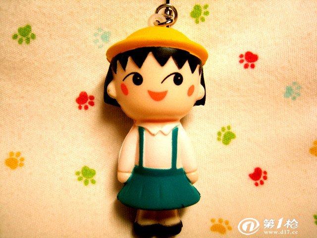 日本卡通 樱桃小丸子 公仔挂件 两色 手机绳 包包饰品 80后 经典