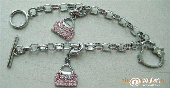 皮绳编制手链 时尚女士手链 复古手链批发  产品采用铜,不锈钢,不锈铁