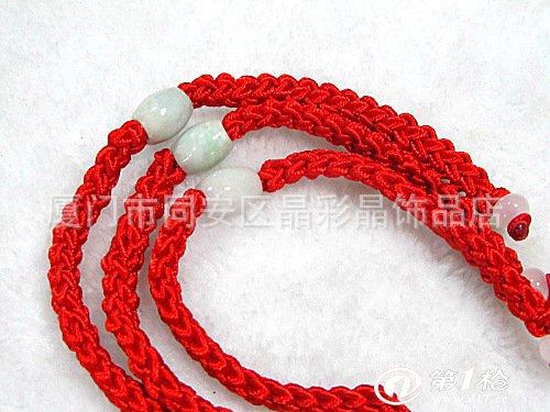 纯手工编织 转运珠红绳手链 路路通红绳玉珠手链 首饰批发