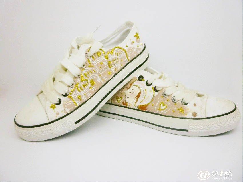 外国手绘鞋子图案大全