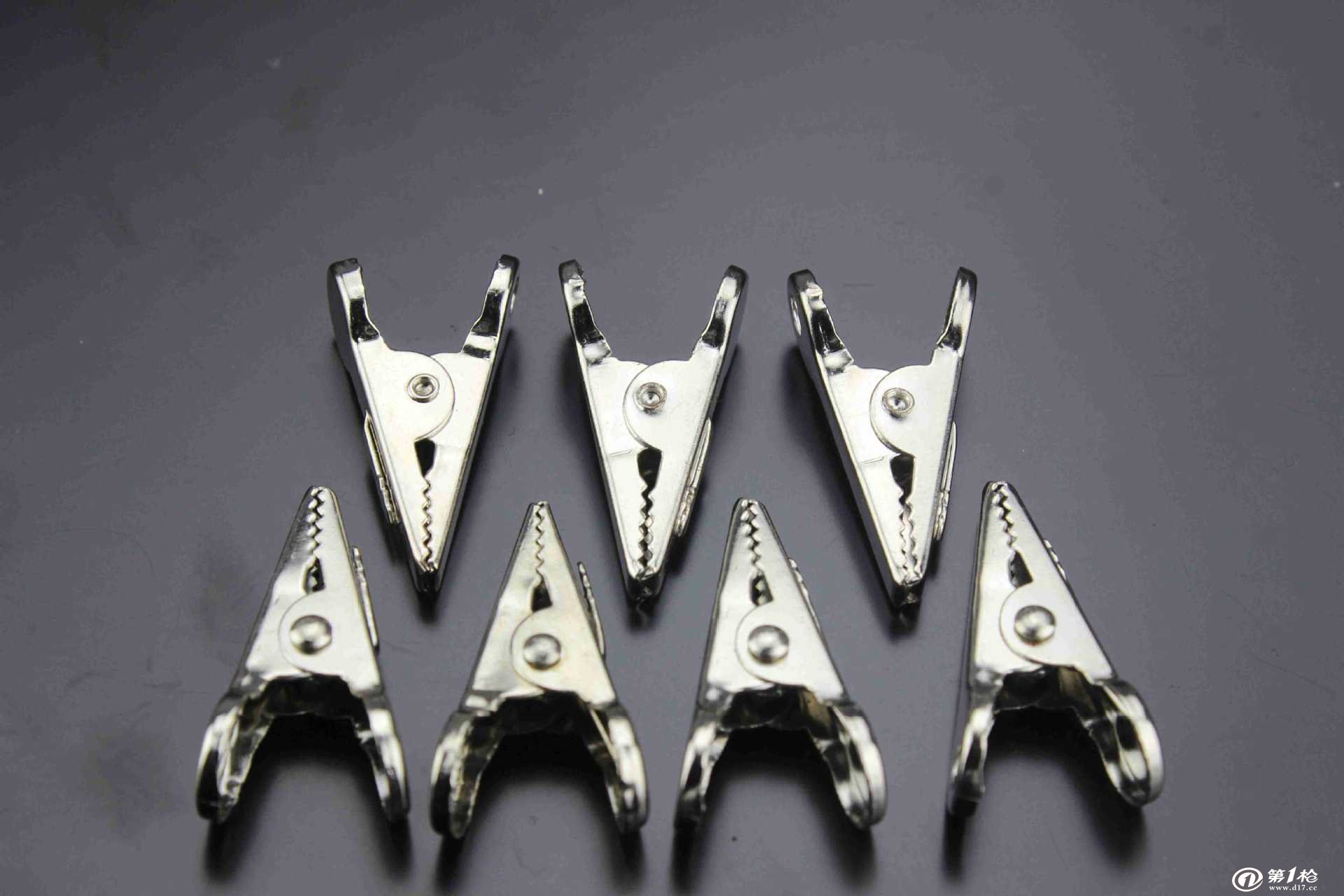 厂家供应 批发 金属两头圆不锈钢夹子 鳄鱼型金属夹子