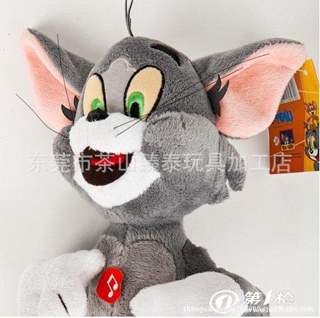 猫和老鼠布娃娃 汤姆猫和杰里 猫抓老鼠 儿童偶像玩具