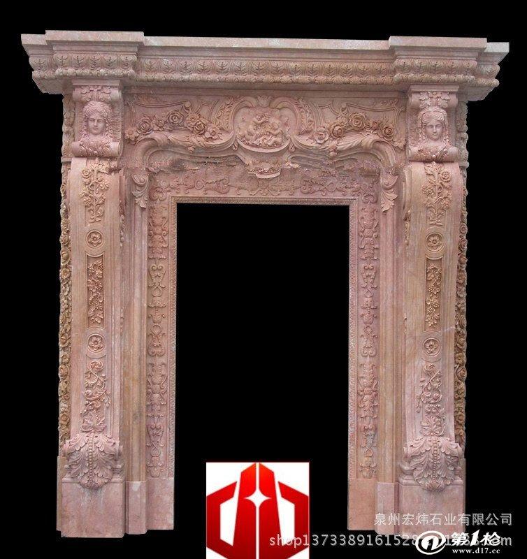 供应欧式大理石门套 石材装饰雕塑