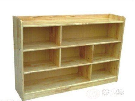 幼儿园原木玩具柜/幼儿实木书柜 整理柜/原木书架/木制玩具柜