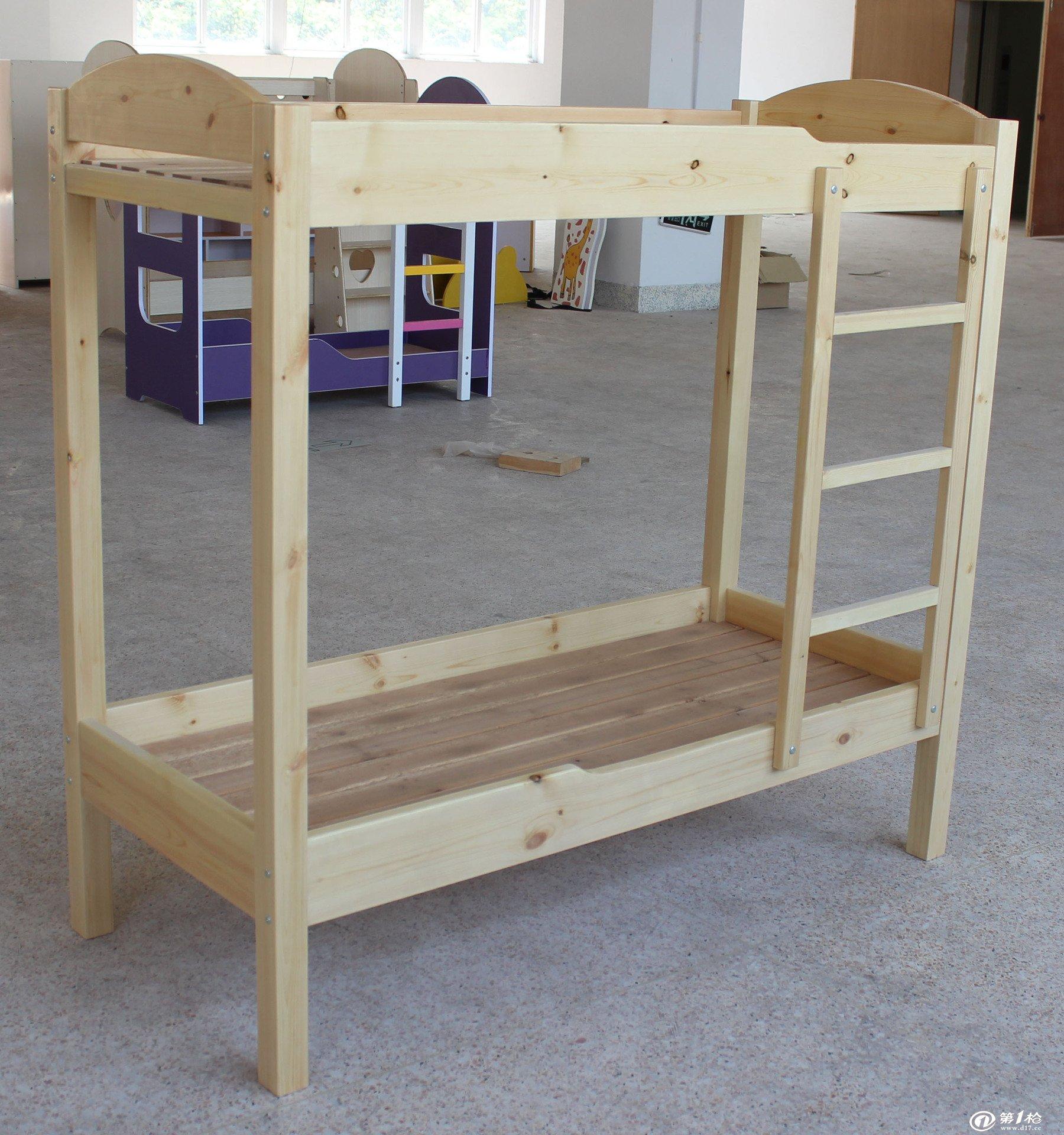 幼儿园专用双层实木床 上下铺小床 幼儿园床 木质儿童
