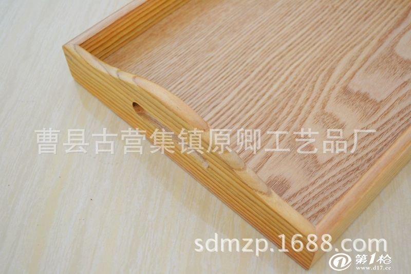 热卖欧式镂空木质茶盘 特价茶具托盘 樱花木制圆盘 创意茶盘