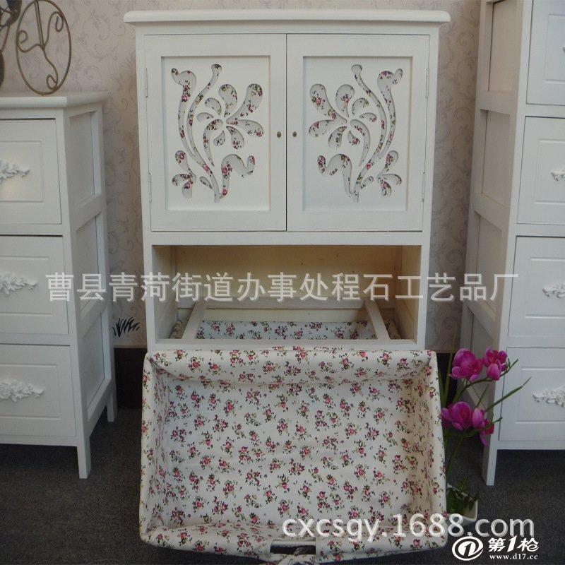 厂家供应实木简约镂空花印家具收纳柜小饰品储物柜定做柳编木柜子