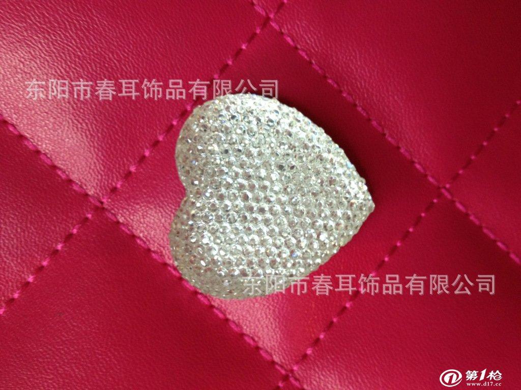 e0034大桃心环保满天星树脂钻,厂家直销34mm