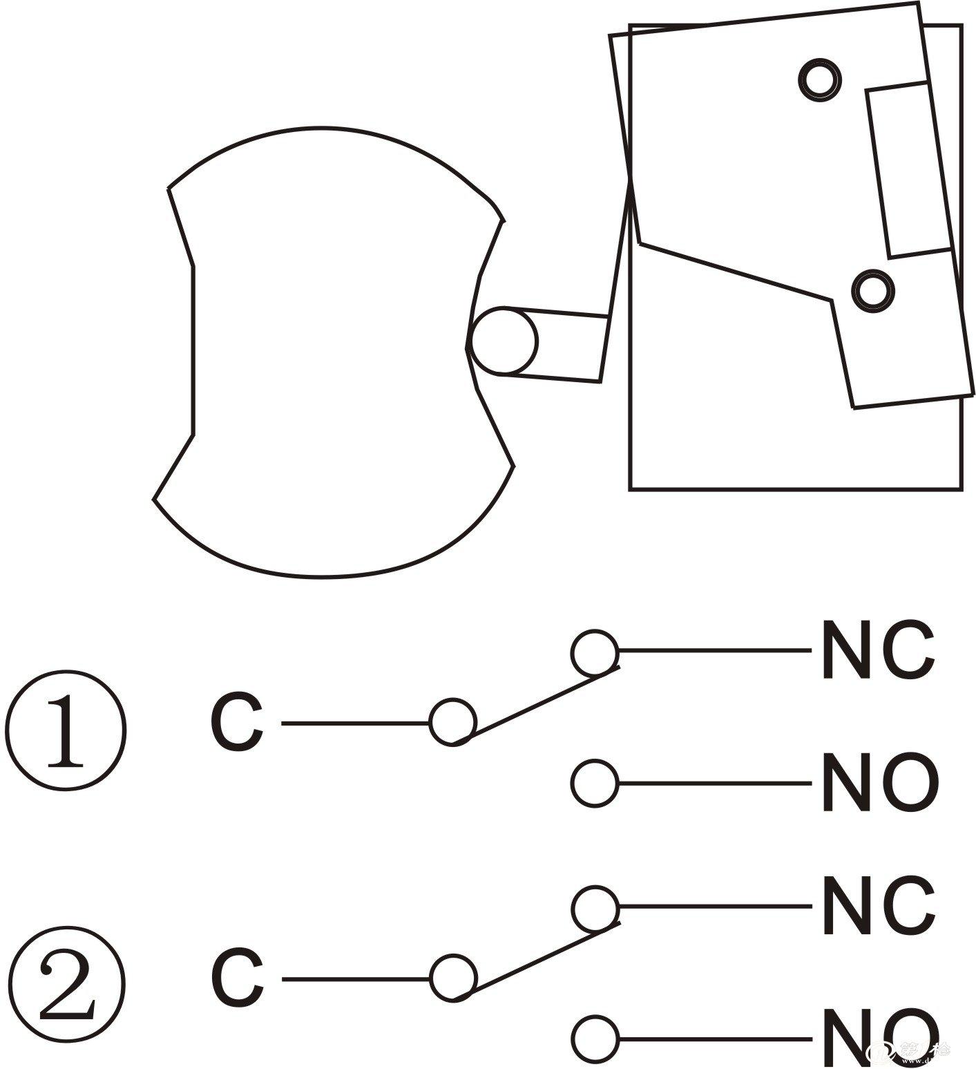 5、工作原理 5.1 请参阅图1-1 5.2 如图1-1 所示,防偏开关安装在输送机架上,如果皮带扭曲或跑偏,挤压旋转臂,使之离开正常的竖直位置或设定的复位位置,旋转臂相对于复位位置旋转10,开关输出报警信号;旋转20,开关输出停机信号。 6、检查和安装 6.1 检查 打开包装之前,应检查外包装是否有挤压、破损、淋雨。打开包装之后,应根据装箱单检查产品是否完整、无损。 6.