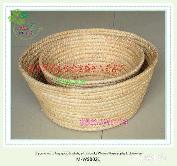 专业生产玉米皮编馒头筐 馒头囤子