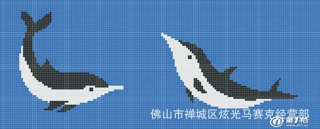 厂家特供马赛克 泳池海豚拼图马赛克 游泳池拼图 拼花