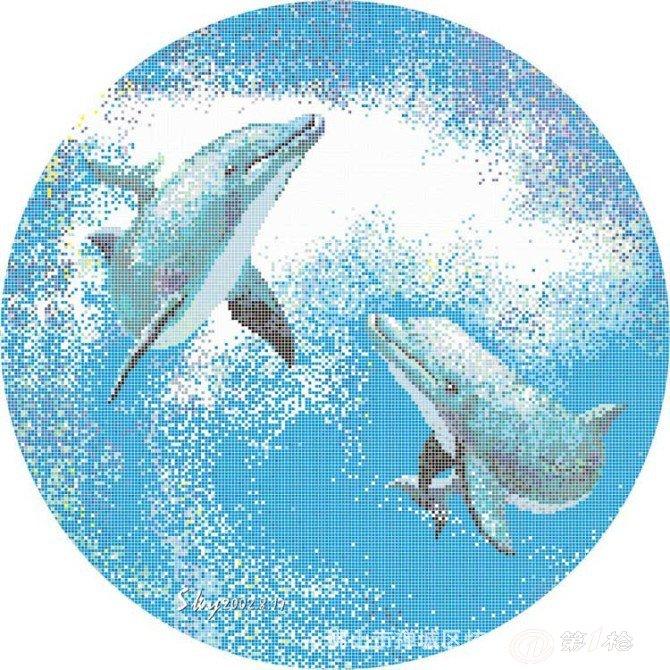 厂家特供马赛克 泳池海豚拼图马赛克 游泳池拼图 马赛克拼图