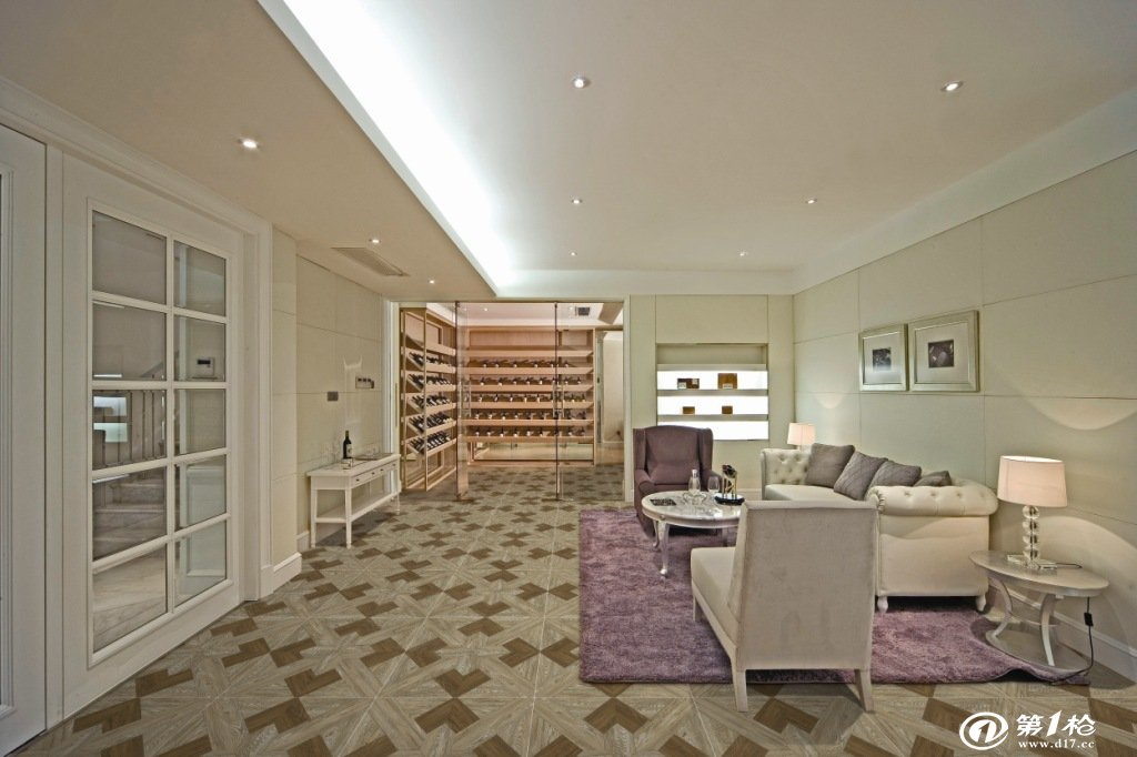 客厅 木纹瓷砖