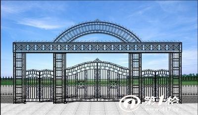 供应济南铁艺牌坊加工,济南铁艺牌坊设计图片