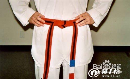跆拳道腰带系法