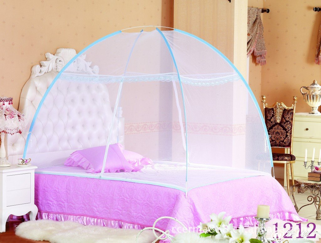 厂家直销 批发 单双人蒙古包魔术蚊帐 立可装蚊帐 折叠免安装蚊帐