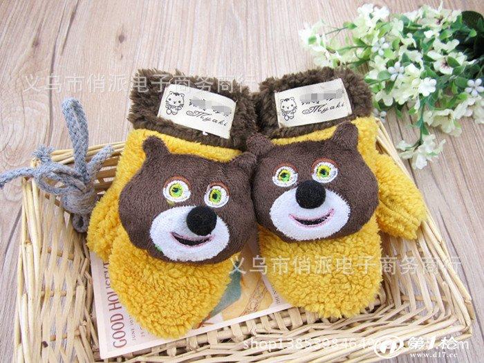 新款儿童卡通手套 熊大儿童保暖手套 可爱儿童手套 全