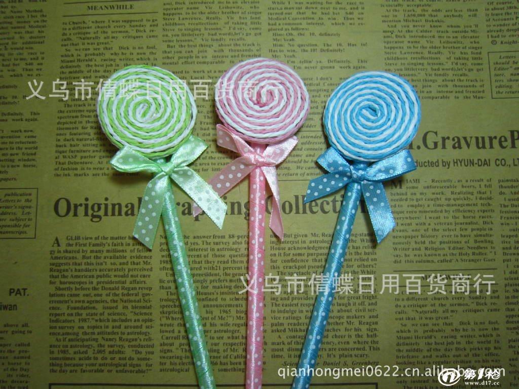 韩版文具 可爱礼品 棒棒糖圆珠笔 棒棒糖笔 圆珠笔 学生奖品批发