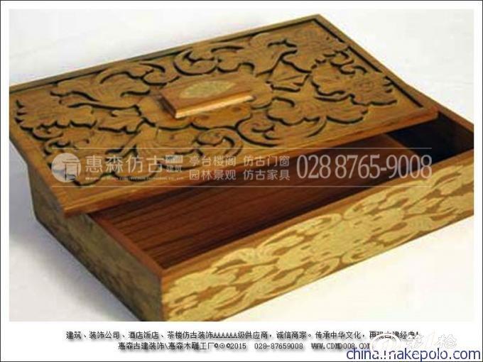 实木雕花屏风隔断 木制包装盒 手工雕刻