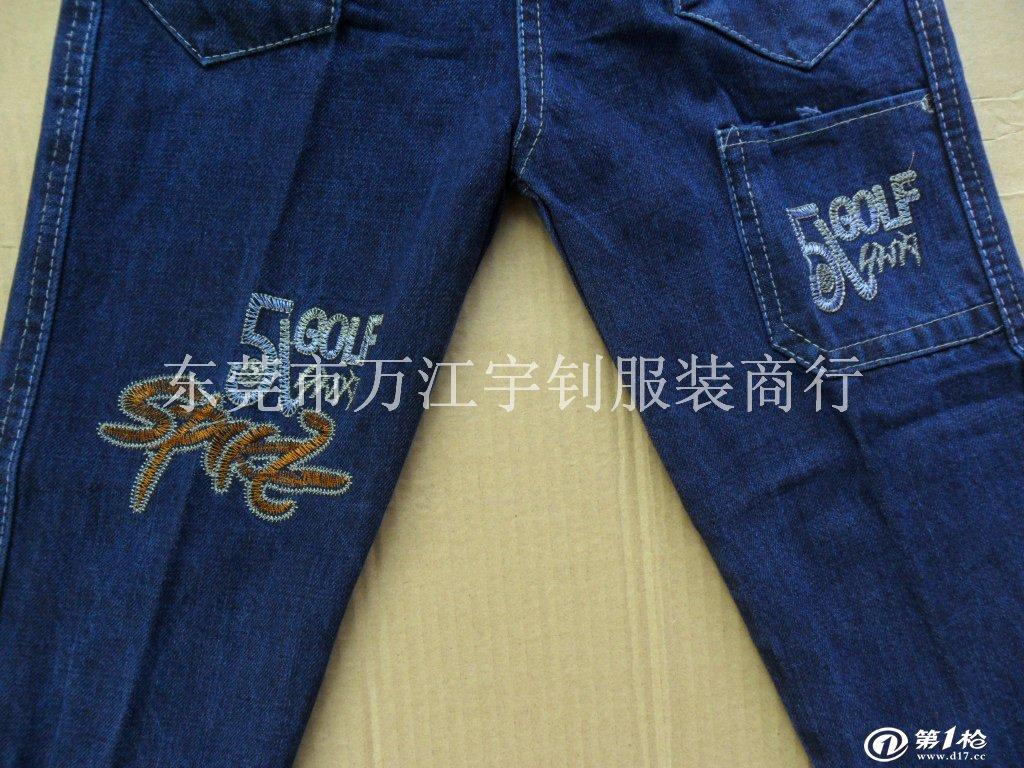 新款童装 儿童牛仔裤 外贸童装库存牛仔裤库存服装批发 儿童品牌