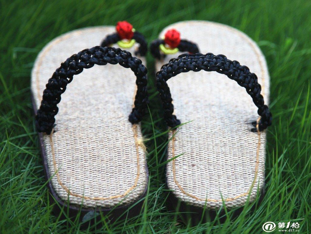 波西米亚 民族风 凉鞋爆款 亚麻编织草鞋 百搭女士人字凉拖鞋
