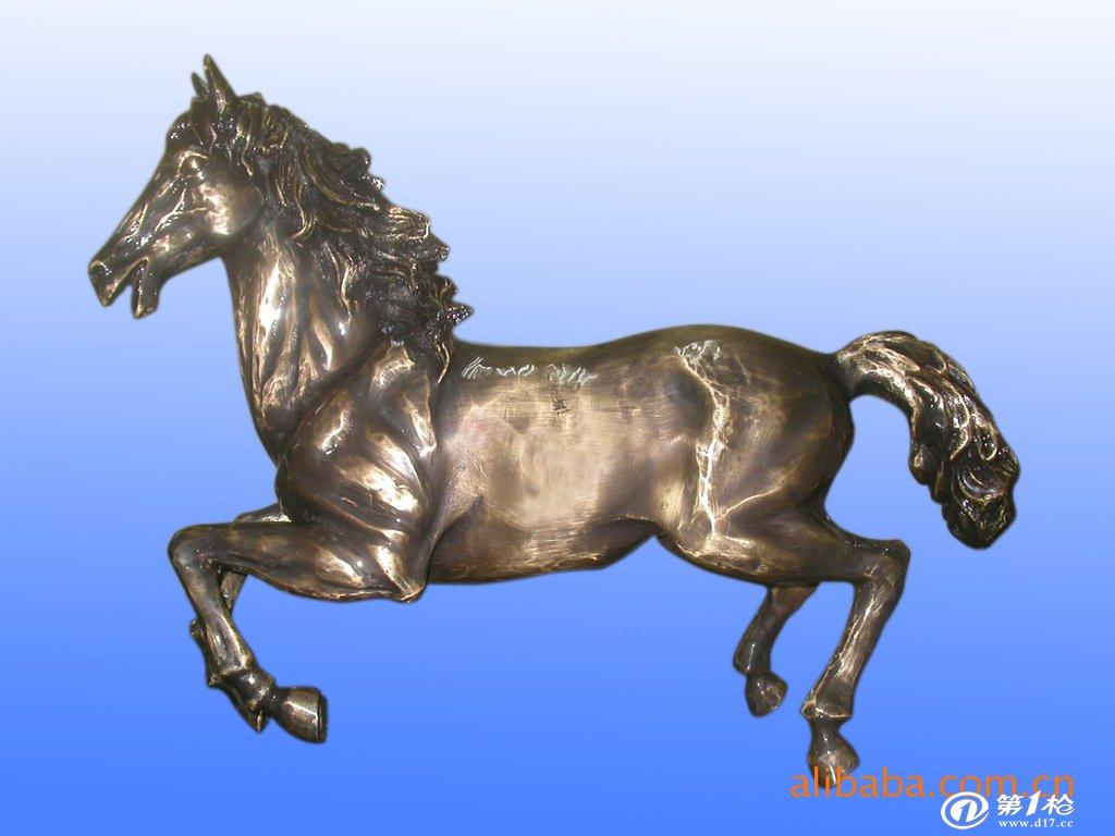 金属工艺品 铜雕塑 马到成功