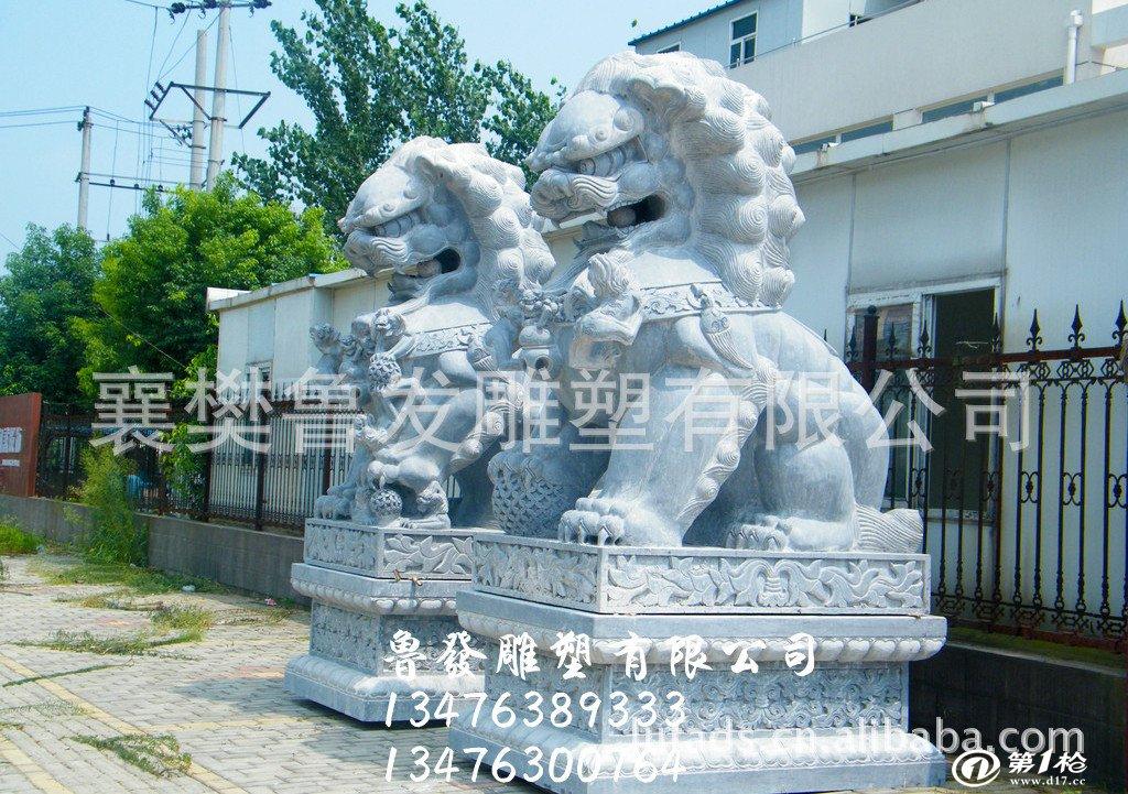 供应石狮子石狮雕塑 动物雕塑 园林雕塑 青石雕塑