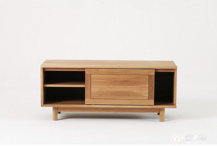 pd实木电视柜 白橡木家具 北欧日式现代简约风格 高端定做