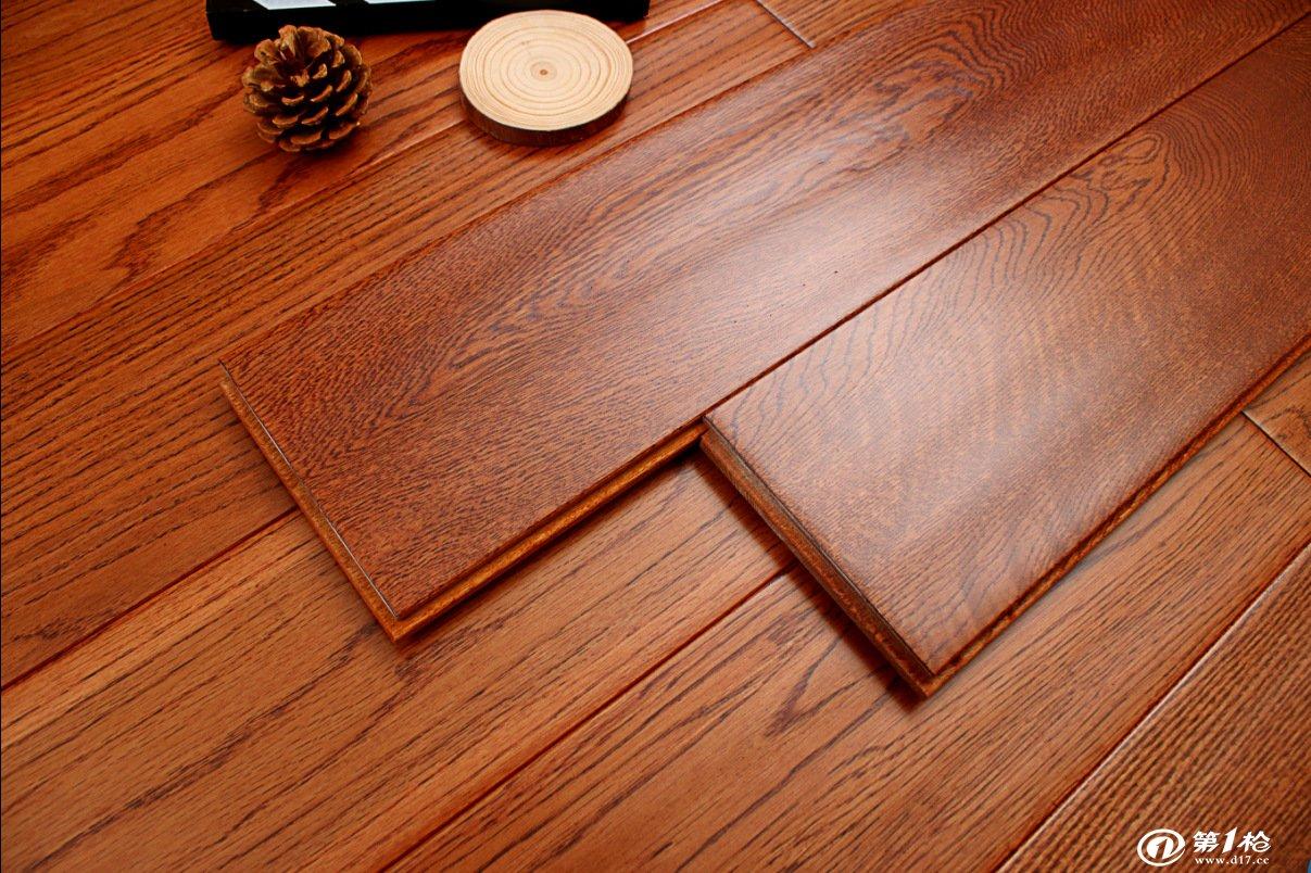 全网较低 纯实木 橡木地板全实木 仿古手抓纹 实木地板