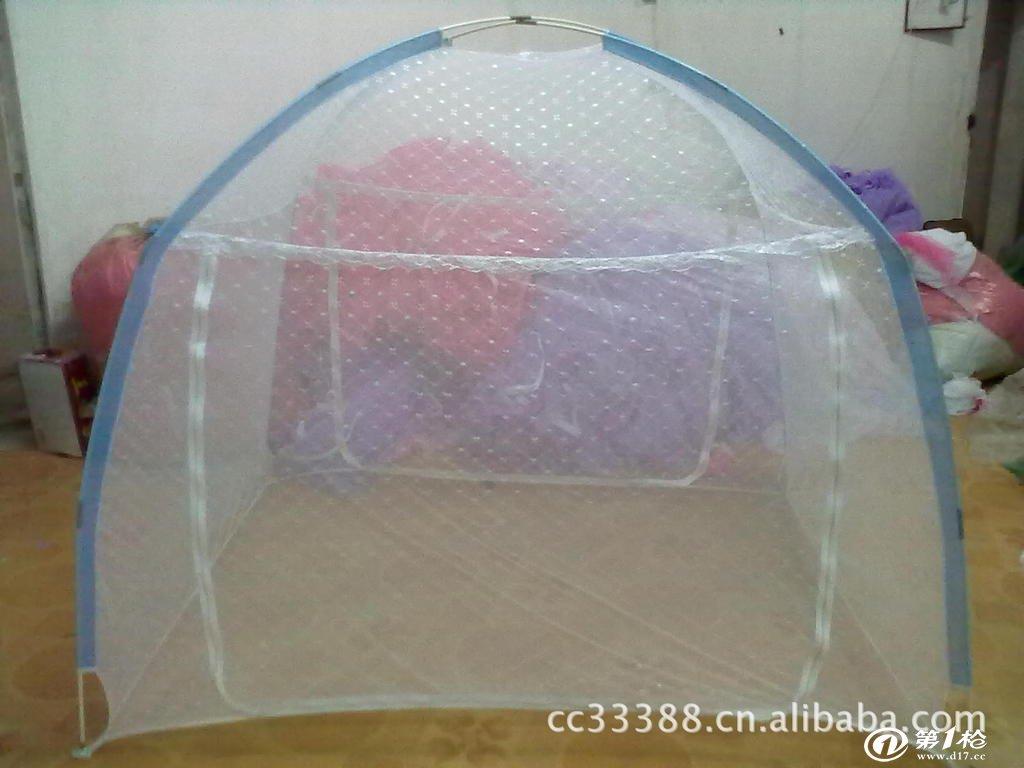 供应自动折叠的钢丝蒙古包蚊帐