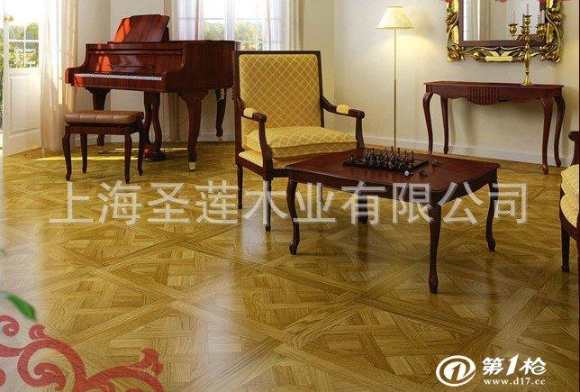 实木复合地板 玉石镶嵌拼花地板