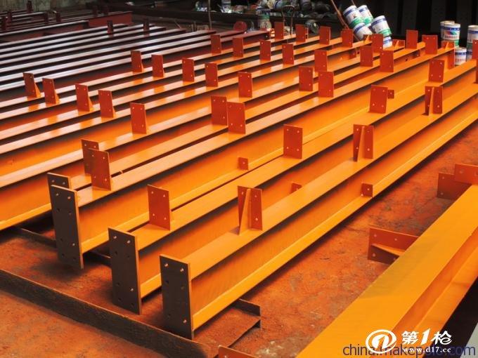 供应双牛钢柱 钢结构车间构件