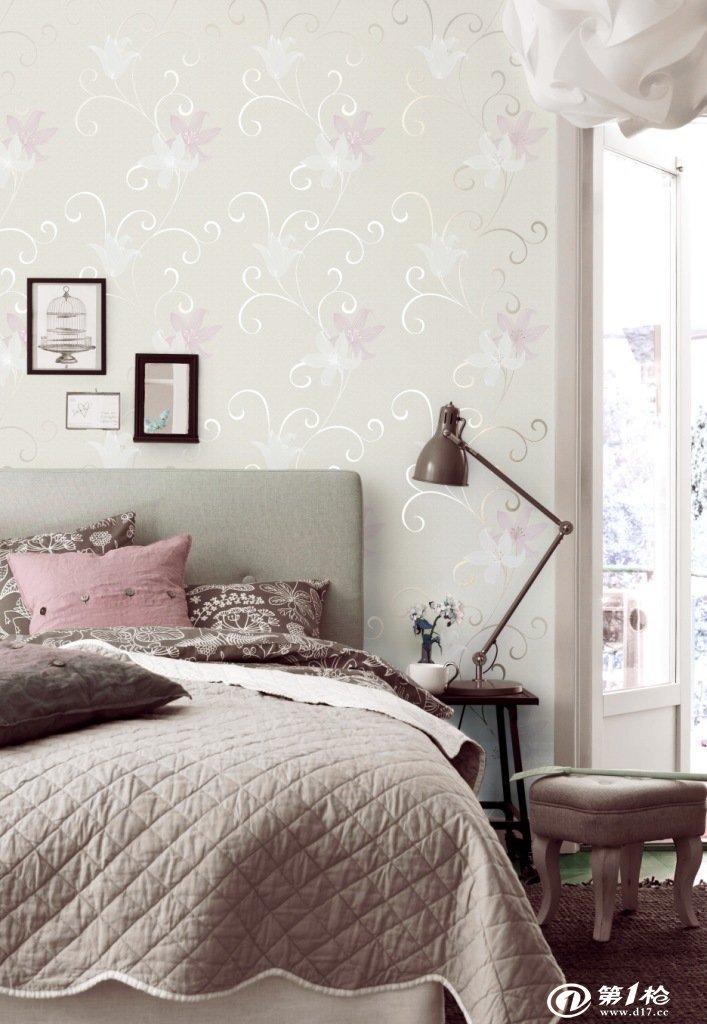 墙纸/壁纸/墙布/墙贴 无纺布墙纸高档材质植绒欧式客厅卧室酒店酒店展