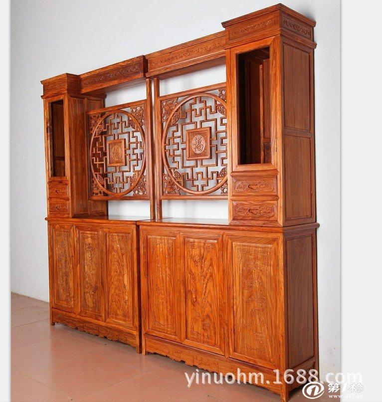 红木家具 福字隔厅柜 实木间厅柜